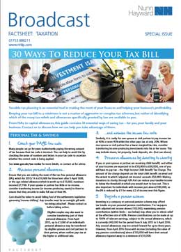 30 ways to reduce your tax bill